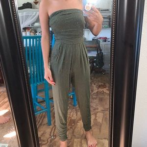Green Tube Top jumpsuit